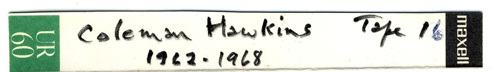 Coleman_Hawkins_Tape_16_1962-1968