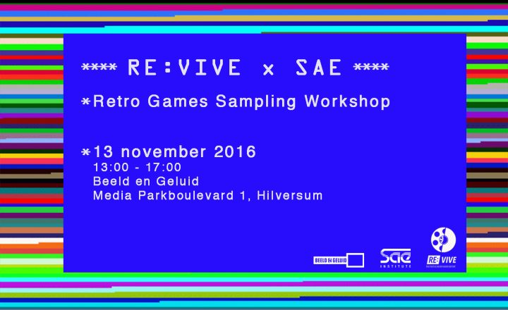 RE:VIVE x SAE | Retro Game Sampling Workshop